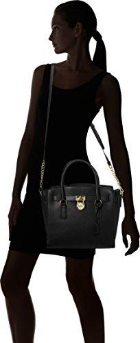 MICHAEL Michael Kors Women's Hamilton Satchel, Black, One Size
