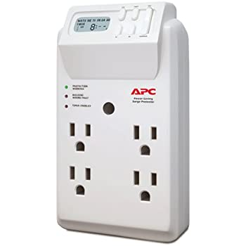 APC 4-Outlet Wall Surge Protector 1020 Joules with Timer-Controlled Outlets, SurgeArrest Wall Tap (P4GC)