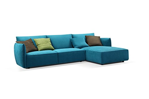 Creative Furniture Skylar Sectional Right Facing Chaise, Teal