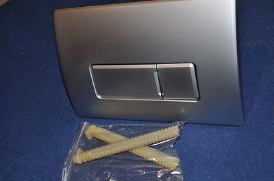 Macdee Pneumatic Dual Flush Push Plate SYG612MF Caspia Matt Steel Kayla