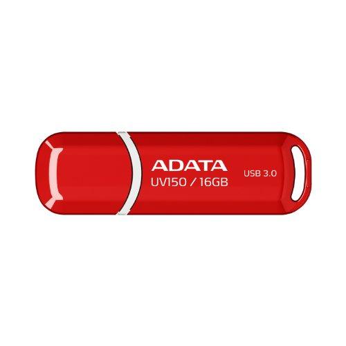 ADATA UV150 16GB USB 3.0 Snap-on Cap Flash Drive, Red (AUV150-16G-RRD)