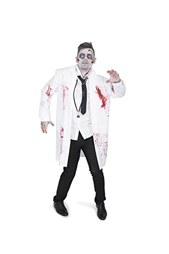 Cute Zombie Halloween Costume (Men's Zombie Doctor Costume - Halloween Costume Party Accessory - Medium)