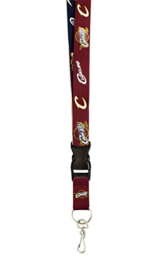 fan products of NBA Cleveland Cavaliers Two Tone Lanyard with Detachable Key Ring  and breakaway safety closure