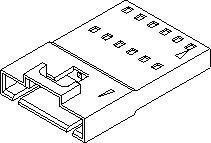 Headers & Wire Housings HSG 4P W/O EARS SINGLE ROW