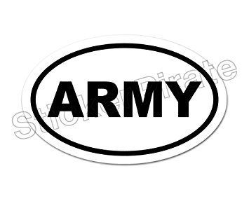 Oval Euro Car Magnet ARMY Military Support Our Troops Magnetic Bumper Sticker