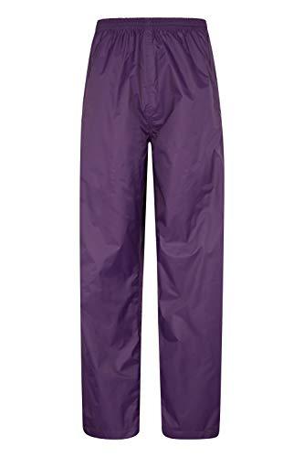 - Mountain Warehouse Pakka Womens Rain Pants -Waterproof Overpants Purple 18
