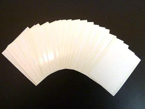 taille rectangulaire 75 x 50 mm noir autocollants /étiquettes autocollantes 30 /étiquettes