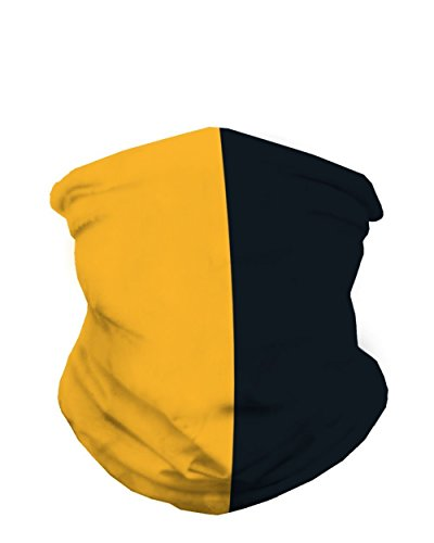 INTO THE AM Yellow Gold and Black Sports Fan Mask Bandana