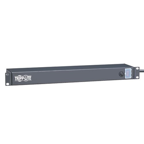 Tripp Lite 6 Outlet Rackmount Network-Grade PDU Power Strip, Rear-Facing, 1U, 15A, 15ft Cord with 5-15P Plug (RS-0615-R)