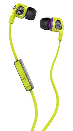 - Skullcandy Smokin' Buds 2 Earbuds with Mic Hot Lime/Purple, One Size