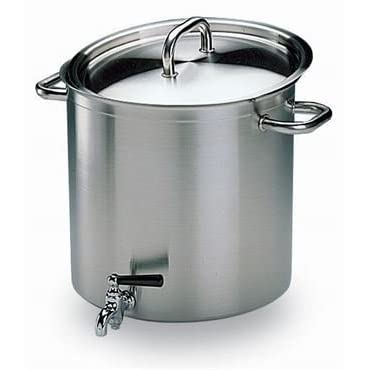 Matfer Bourgeat 694240 Excellence Stockpot With Lid And Faucet 15.75 in.