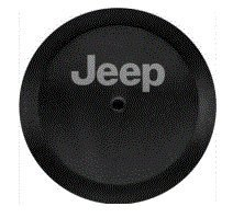 82215434 2018 Jeep Wrangler Spare Tire Cover – Black Vinyl, Jeep Logo