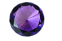 Dark Purple Diamond Shaped Glass Crystal Paperweight