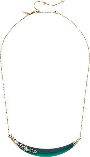 Alexis Bittar Women's Crystal Baguette Crescent Necklace Black Forest One - Necklace Lucite Alexis Bittar