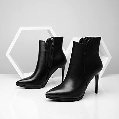 Hauts Martin De Chaussures De Bottes Travail Et blackplusvelvet Travail À RLYAY Chaussures Velours Simples Talons Beige ItwqxySaH