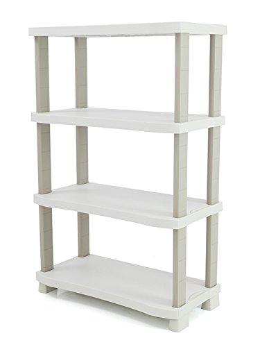 PLASTIKEN é tagè res space saver 90 cm avec 4 é tagè res couleur Beig (cm de large x 45 cm de Creuse X 141 cm de haut)