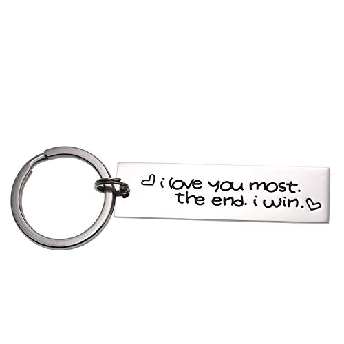 LParkin I Love You Most The End I Win Keychain for Couples Friendship Accessory Key Chain (Keychain) - Special Girlfriend Gifts