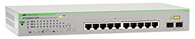 ALLIED TELESIS AT GS950/10PS - Switch - 10 Ports - Managed - Desktop, Rack-Mountable, Wall-Mountable (AT-GS950/10PS-10)