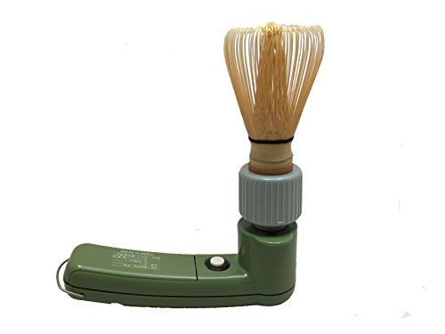 Charaku, Japanese Handheld Electric Matcha Whisk/ Frother with bamboo chasen (commercial use) by Willman