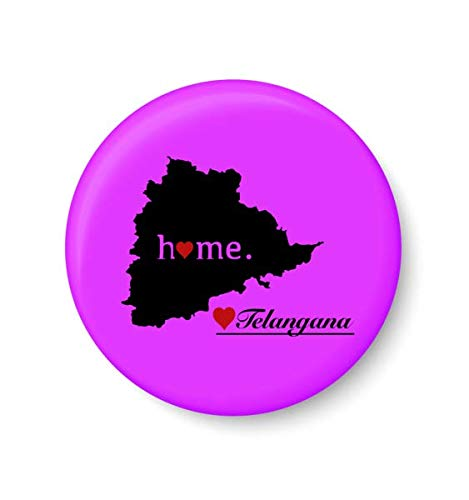 PEACOCKRIDE Metal Telangana Home Love Fridge Magnet
