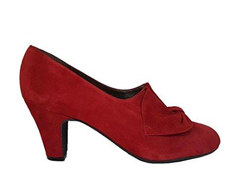 GENNIA XARRUX - Zapatos de Tacón Para Mujer con Punta Cerrada y con Lazo