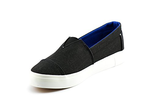 Sneakers Canvas On CALICO Twill Casual Black Slip Women's KIKI xwSSUvq07