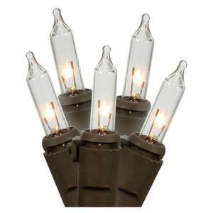 Darice 10-Light Bulb Light Set, Clear Bulbs, Brown Wire