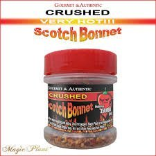 Scotch Bonnet Crushed Pepper Flakes 1/2 Oz. 350,000 SHU