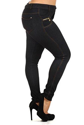 40d67367812 Simlu Denim Plus Size Jeggings For Women With Pockets - Buy Online ...