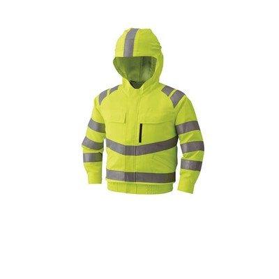 高視認性安全空調服ブルゾン リチウムバッテリーセット BP-500HVC10S7 蛍光イエロー 5L[通販用梱包品] B07DGXPCWC