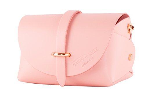 BORDERLINE EVELINA cuir en Rose P Pochette véritable rwrpnEPFxq