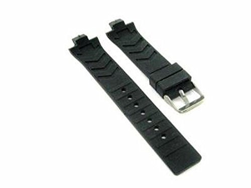 21.5mm Black Silicone Rubber Watchband to fit TAG Heuer Kirium Gents Watch (Heuer Original Tag Strap)