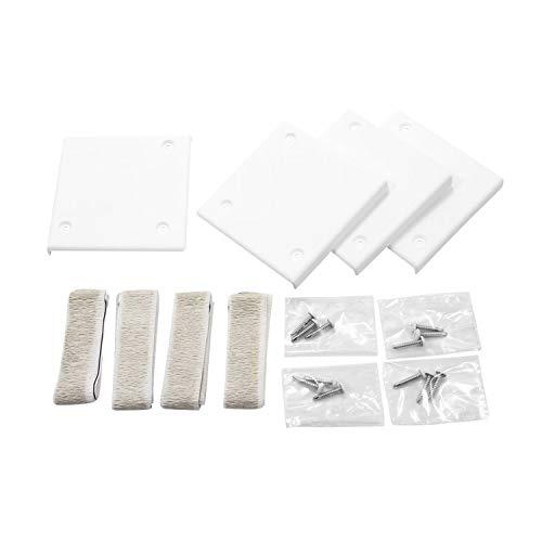Camco Mfg 42216 Slideout Corner Plates White ()
