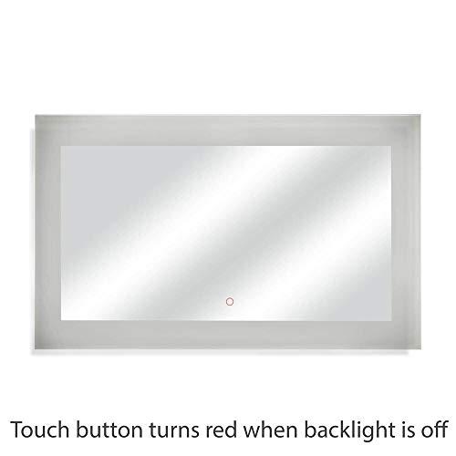 Dyconn Faucet Royal Wall-mounted Vanity Bathroom LED Backlit Mirror - Silver - Royal Mirrors Dyconn Led Bathroom