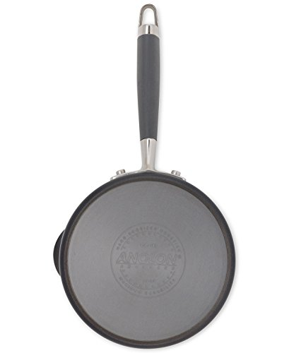 Anolon 83661 Nonstick Covered Straining Saucepan, Small, Gray