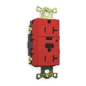 GFCI Receptacle, 20A, Industrial, Red by Hubbell
