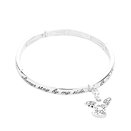 Rosemarie Collections Women's Inspirational Stretch Bangle Bracelet