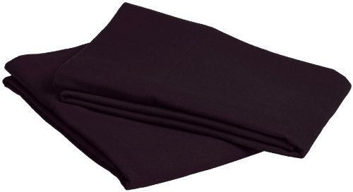 Pinzon Signature 190-Gram Cotton Heavyweight Velvet Flannel Pillowcases - Standard, Aubergine