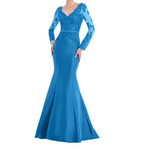 Blau Langarm Abendkleider Rot Braut Marie Elegant Langes Ballkleider Damenkleider La Brautmutterkleider qAwTIv7