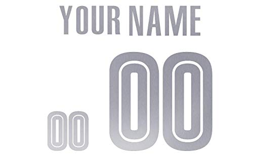 Jersey Lettering Kit - Custom Glitter, Glow in Dark, Metallic, Reflective, Hologram Vinyl Iron-on Transfer Shirt Name and Number Kits for Custom Soccer, Basketball and Baseball Jerseys,Shirts,Clothing (Silver Reflective)