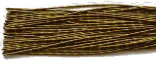 Archery ZEBRA WHISKER RUBBER BOWSTRING BOW STRING SILENCERS 4 Pc. Pack - NEW HOT COLORS ! (Pumpkin-Chartreuse) ()