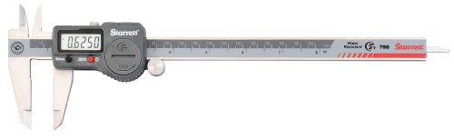 Starrett 798B-8/200 Digital Caliper, Stainless Steel, Battery Powered, Inch/Metric, 0-8