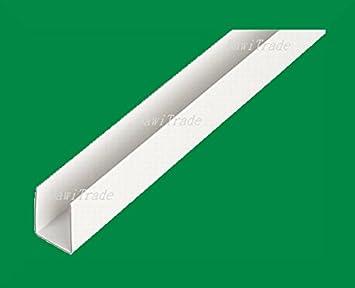 Top BawiTec PVC Kunststoff U-Profil 21x20mm 200cm weiß DO99