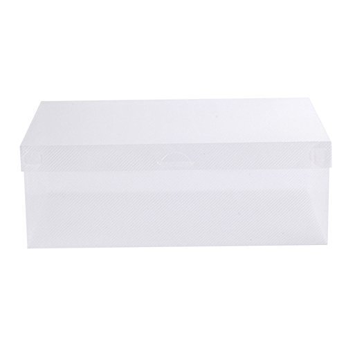 Ladies Womens Stackable Foldable Plastic Shoe Storage Boxes Box Organiser