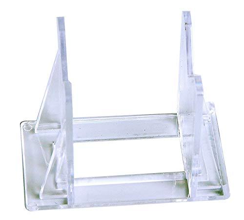 Quantity of 12 | 3-Part Display Easel | Acrylic Display Easel | Adjustable Mini Easel (Lure Display)