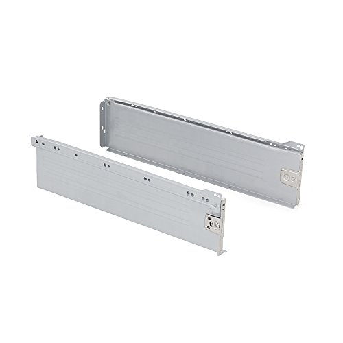 Emuca 3058825 Kits de Cajón H150, Gris Metalizado, 450mm