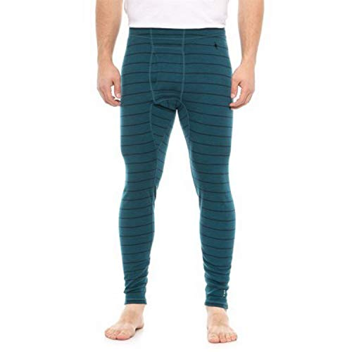 SmartWool Men's Merino 250 Baselayer Pattern Bottom (Deeo Sea Heather, XL)