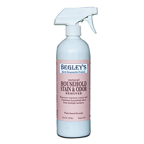 Begley's Natural Household Stain and Odor Remover - 24 Ounce - Environmentally Responsible Plant-Based Formula, Cleans Tile, Wood, Carpet, and ()