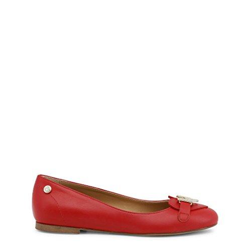 flats Red Moschino Women Love Ballet Red a7RxnwnT1q