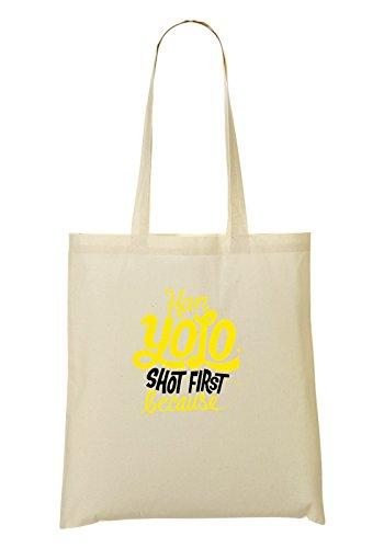 9486aa766be16 Yolo Because La Bolso shirt Han Mano Shot T Compra First De Bolsa 1dtwxTvq